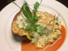 Halibut, Squash Risotto, Lobster Beurre Blanc