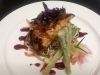 Local Salmon, Soba Noodle Salad Tempura, Scallion Blueberry Sambal.