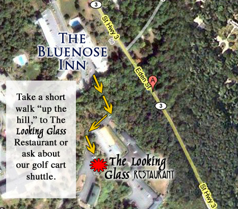 Looking Glass Restaurant Map