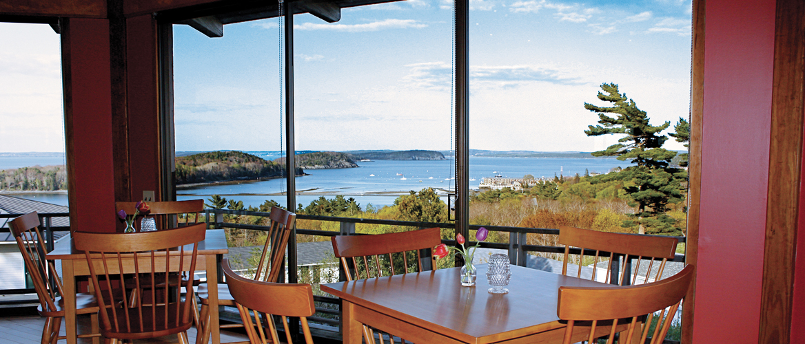 Dine In Bar Harbor At The Looking Glass Restaurant